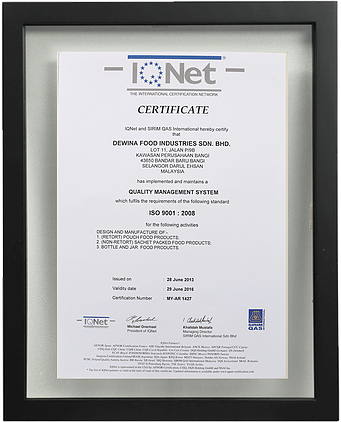 Certified MS ISO 9001