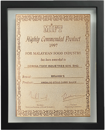 Highly Commendable Product 1997, MIFT (Brahim's- Vindaloo Curry)