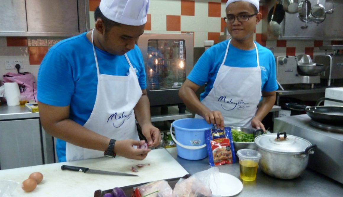 Brahim's in KDU Penang cooking competition I Guang Ming Daily