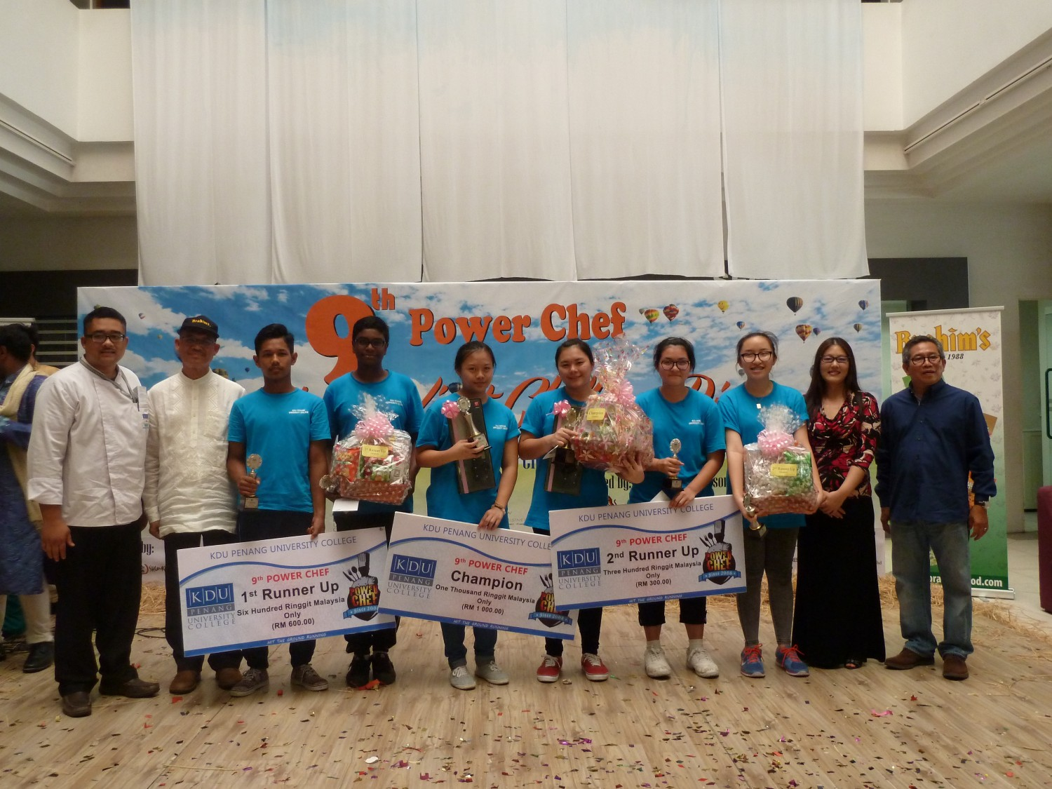 Top 10 winners for KDU Penang University College's  Power Chef Competition 2016