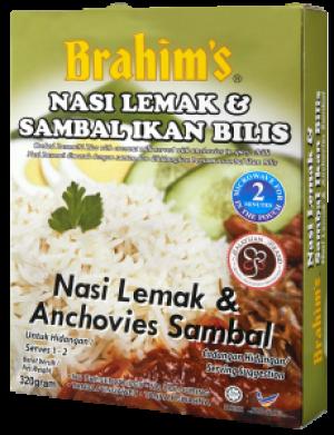 Nasi Lemak And Anchovies Sambal