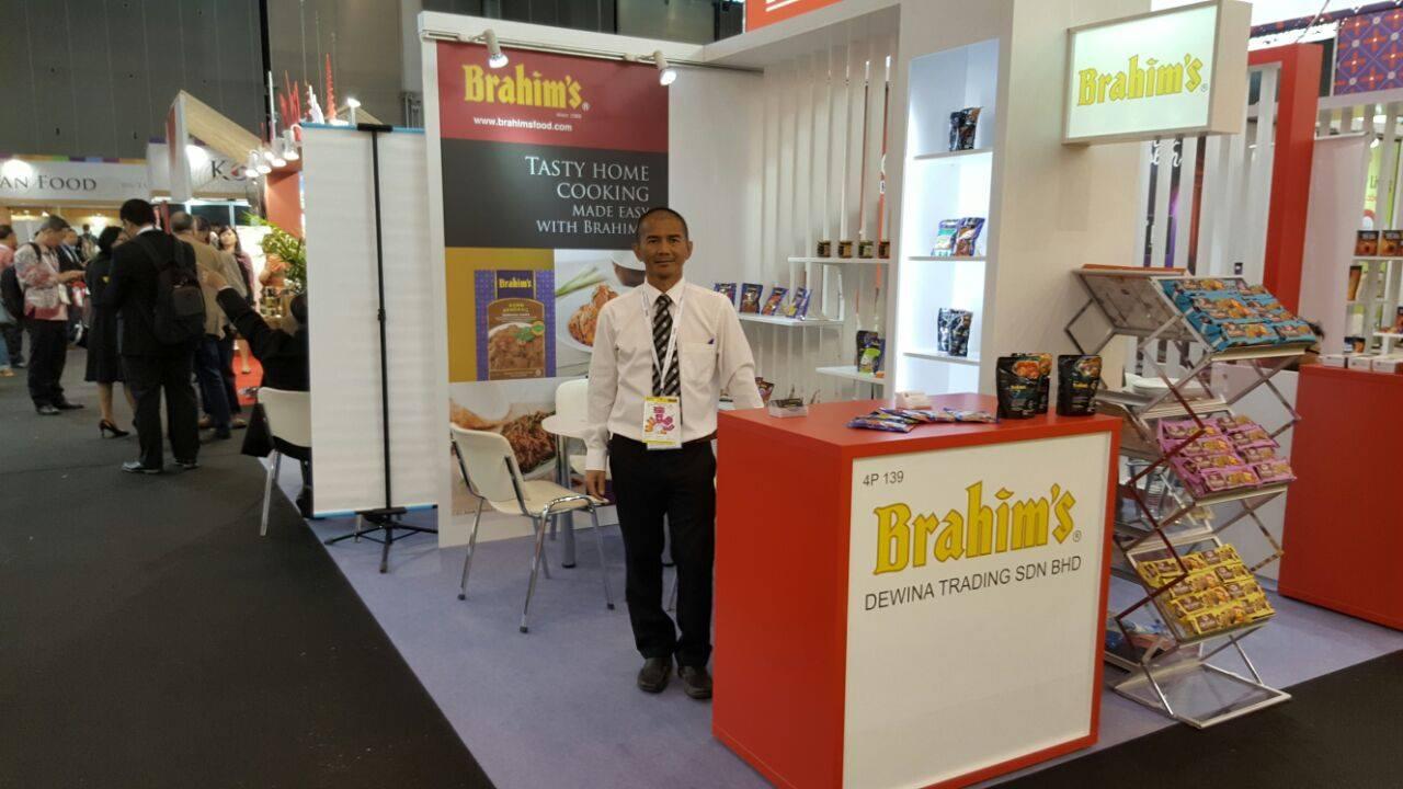Brahim's product showcase at SIAL Paris