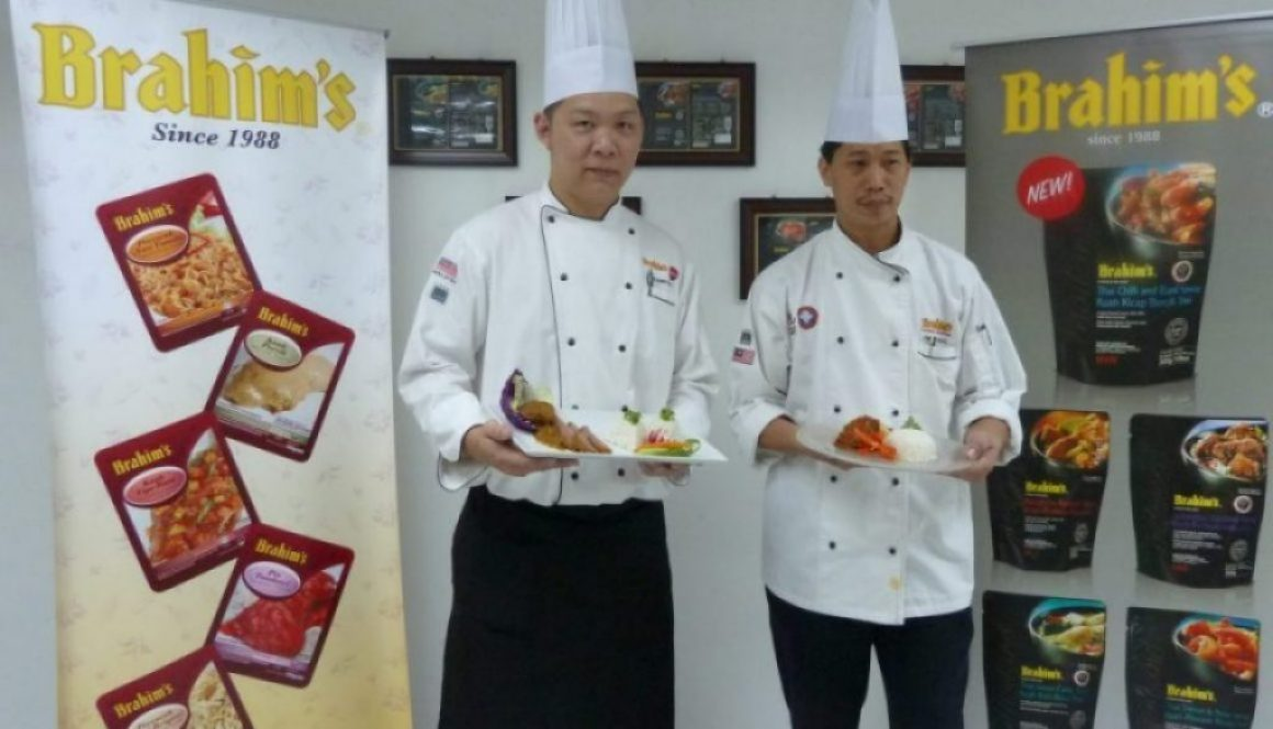 Chef Faizal and Chef Choa cook up CNY flavours using Brahim's cooking sauces