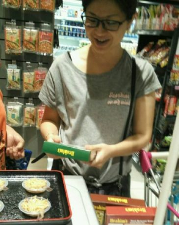 Brahim's rice cooking demo and sampling for August