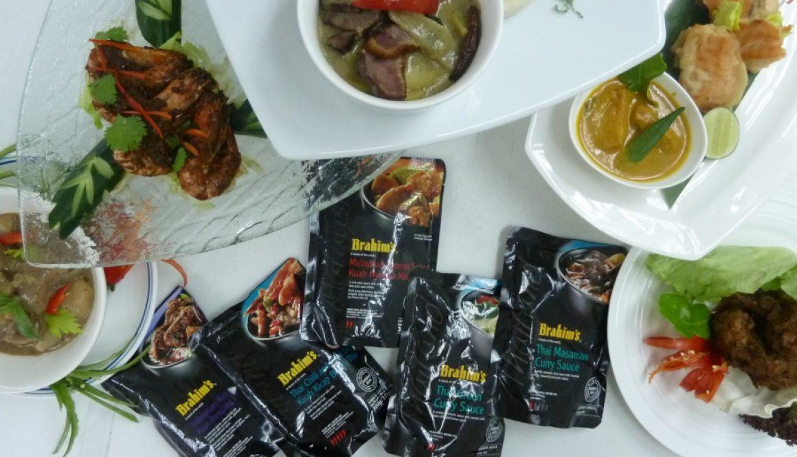 Brahim's black pouch premier simmer sauces