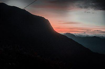 Magical night view of Korga's peak.