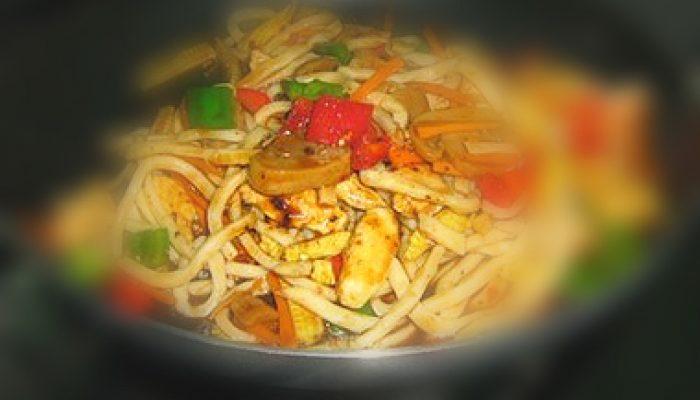 Japanese Udon Stir Fry Noodles