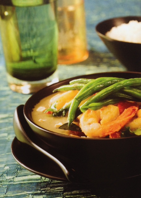 Nutty Thai Green Curry Prawns