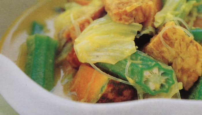 Tempe And Vegetables In Creamy Coconut Gravy