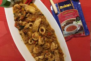 Seafood In Spicy Peanut Sauce