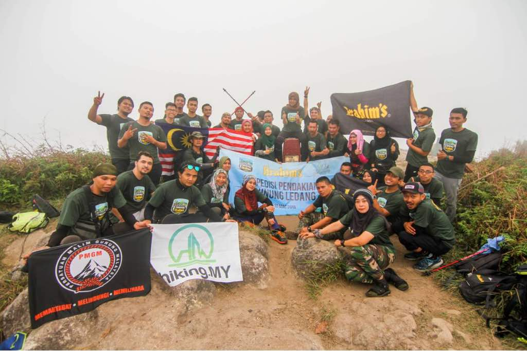 Participants at the summit of Gunung Ledang