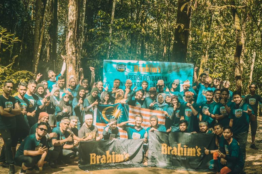 Participantsat the campsite before returning home.