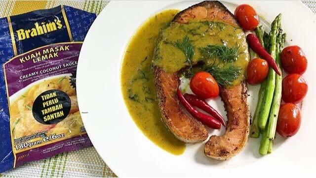 Salmon Grill Berkuah Masak Lemak @puspasela