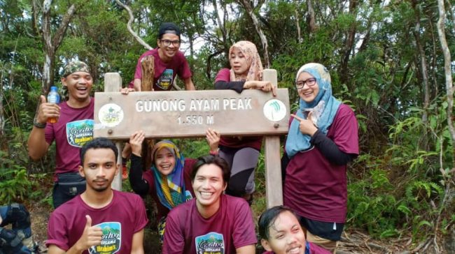 Participants at Gunung Ayam