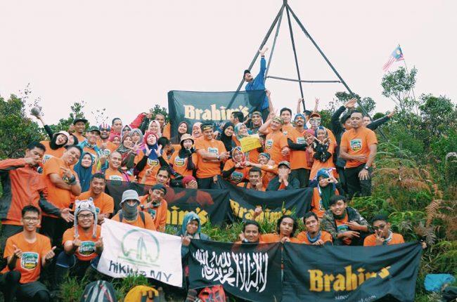 Participants at the peak of Gunung Batu Putih