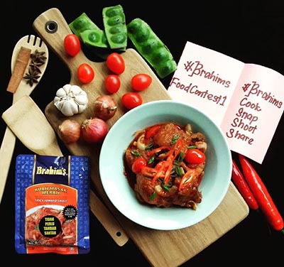 Ayam Masak Merah dengan Kuah Masak Merah Brahim's by aidaariati