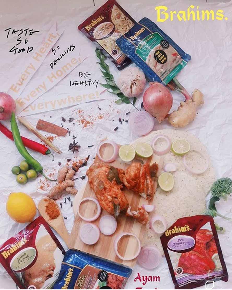 Ayam Tandoori dengan Pes Tandoori Brahim's by no_niza