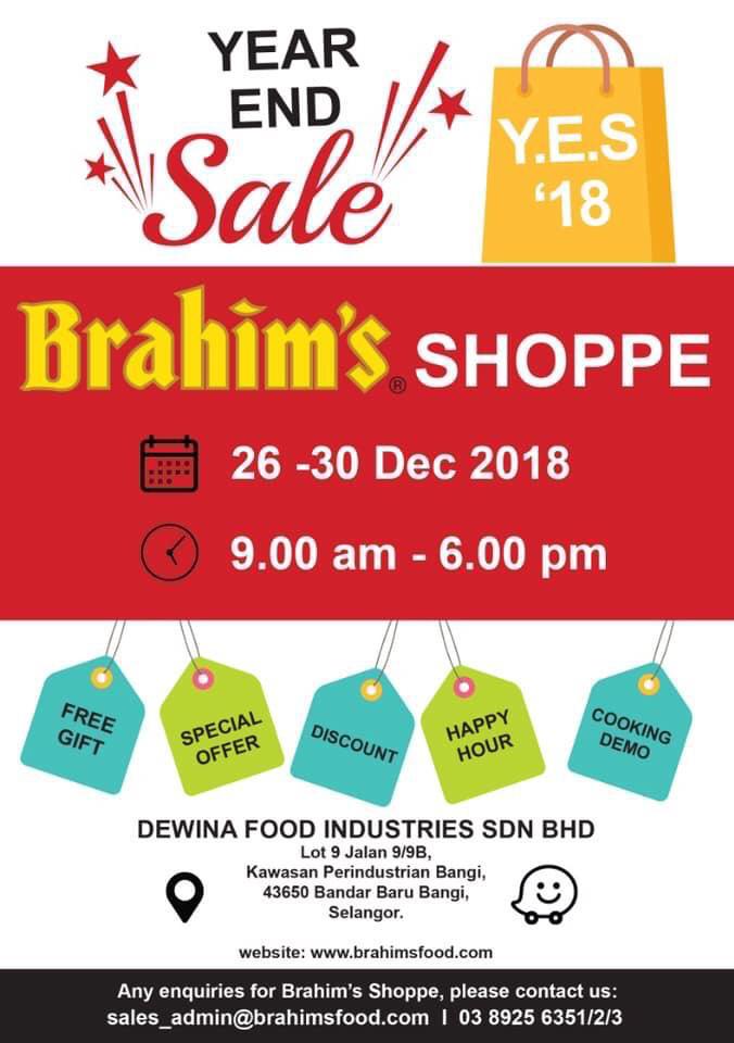 Brahim's Shoppe Year End Sale 2018