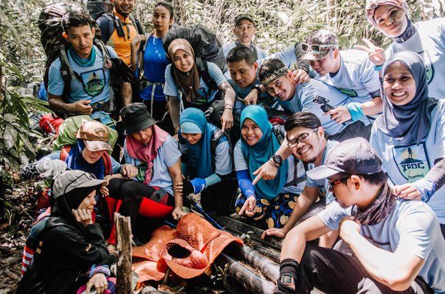 Participants at Gunung Tangga
