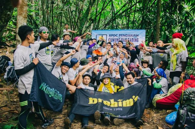 Participants at Gunung Bah Gading