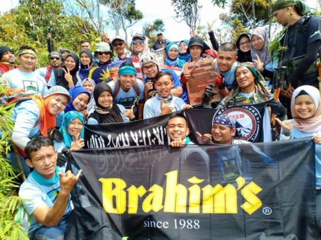 Participants at the peak of Gunung Tangga