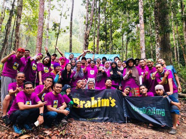 Participants at Gunung Tebu
