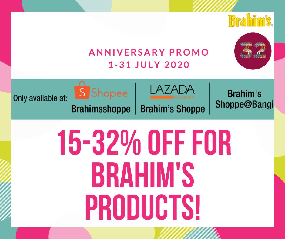 Brahim's Online Store Promo Brahim's 32nd Anniversary 2020
