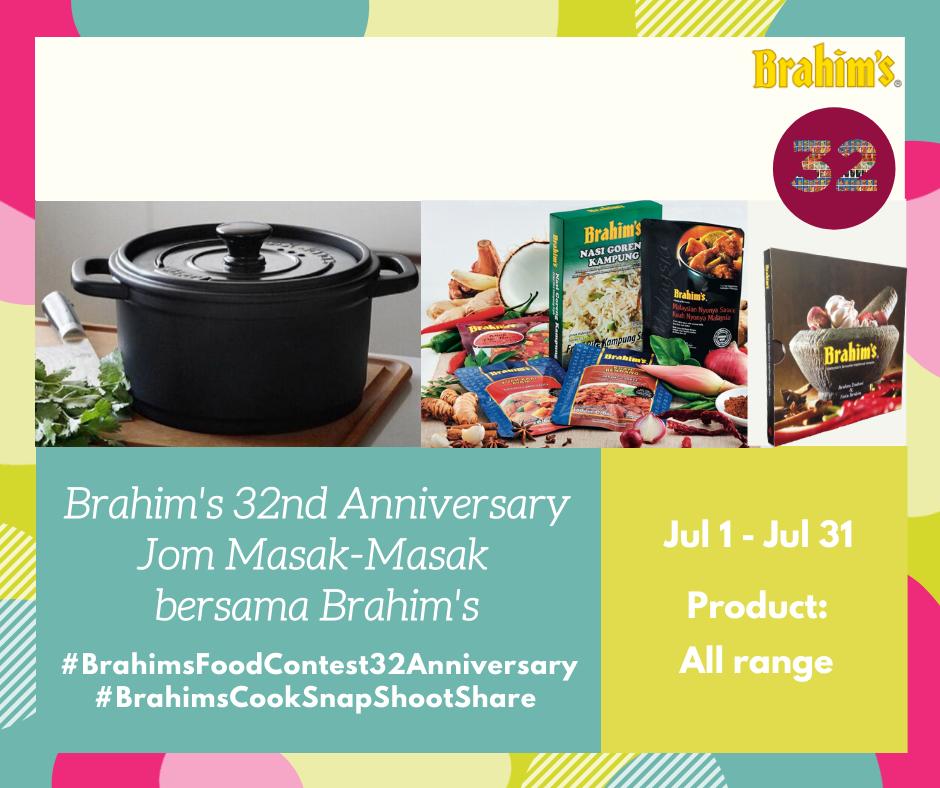 Brahim's Food Contest Brahim's 32nd Anniversary 2020