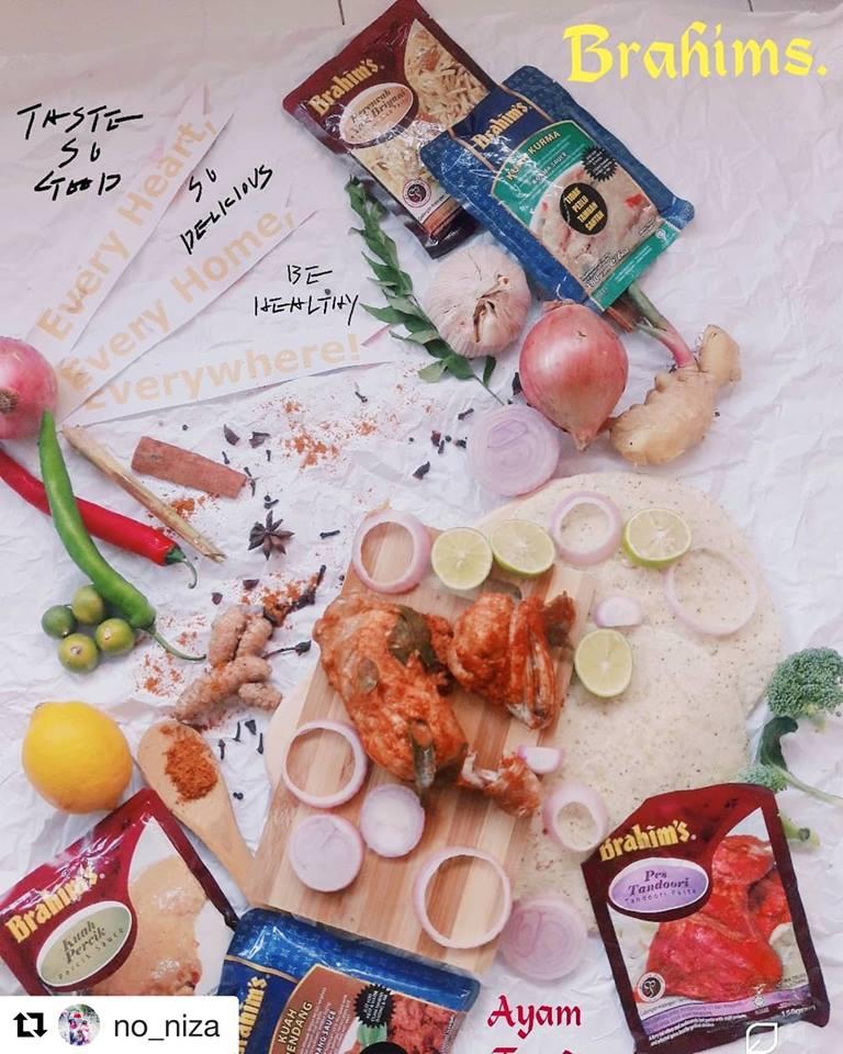 Ayam Tandoor dengan Pes Tandoori Brahims. @no_niza jpg