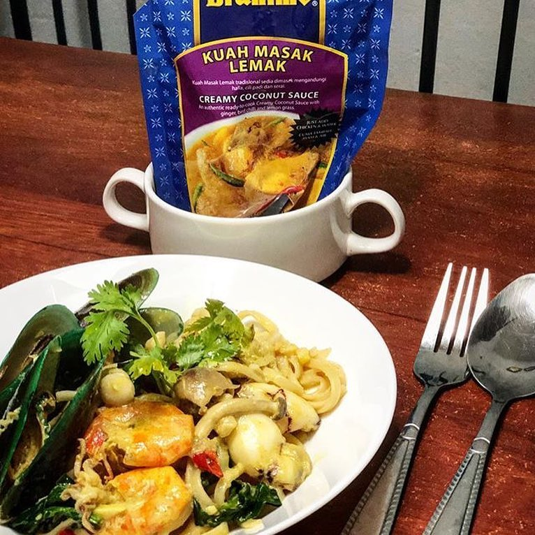 Spagetti Seafood Kuah Masak Lemak Brahim's@liizaliizacook 1